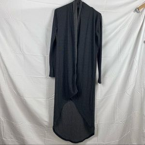 Temt Collection Gray Long Sleeve High Low Non-Closer Long Cardigan Size S